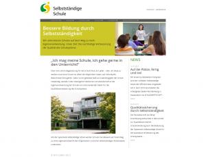 Screenshot Startseite Projekt Selbständige Schule