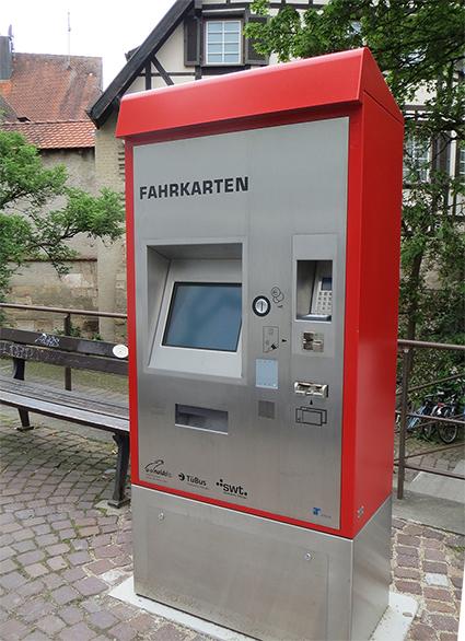 Fahrscheinautomat Tübingen