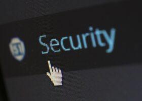 Mausklick auf Security