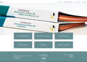 Website MTO Bildung Desktopansicht